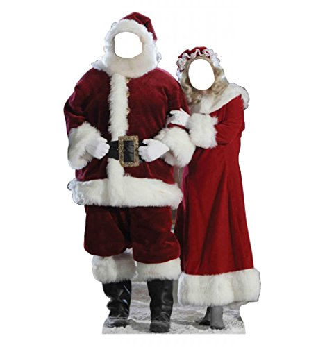 Santa and Mrs. Claus Stand-In - Advanced Graphics Life Size Cardboard Standup (Life Size Cardboard Stand Up compare prices)