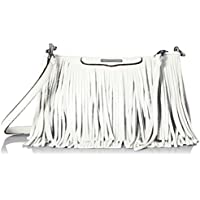 Rebecca Minkoff Finn Clutch Convertible Cross Body Bag (White)
