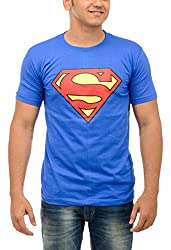 Shop Your Style Men's Cotton T-Shirt (ZYN00B11_L, Blue, Large)