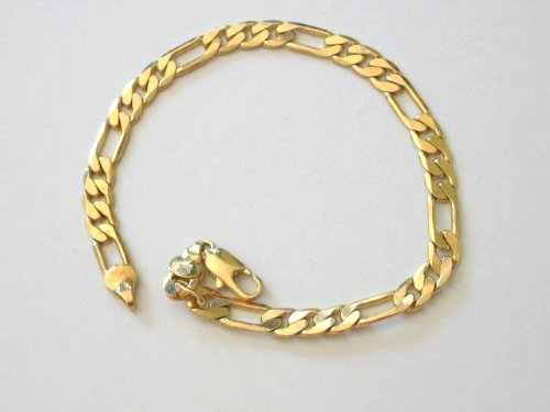 Baby or Toddler 5 Inches Gold Plated Figaro Link Bracelet