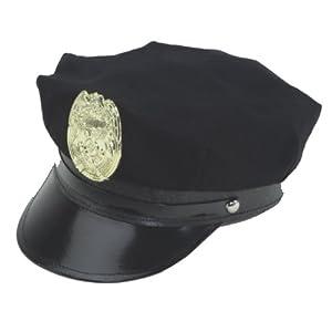Blue Police Hat W/ Badge