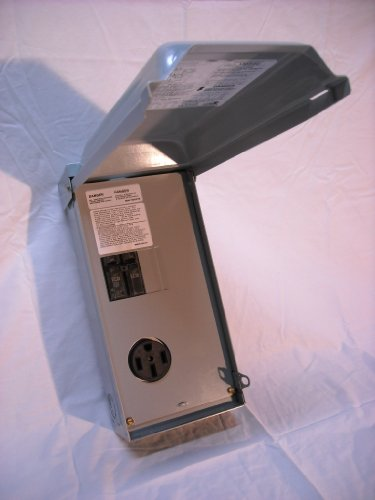 Midwest U054C Rainproof RV Power Outlet Box with 50 Amp 14-50r Receptacle and 50 Amp Breaker