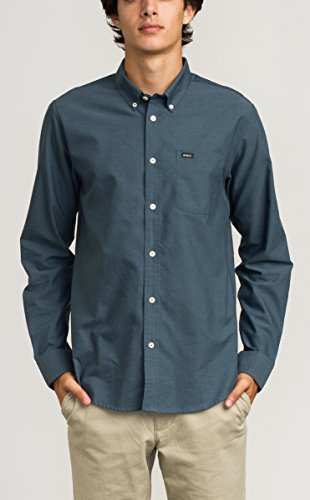 rvca-mens-thatll-do-oxford-long-sleeve-woven-shirt-carbon-xx-large