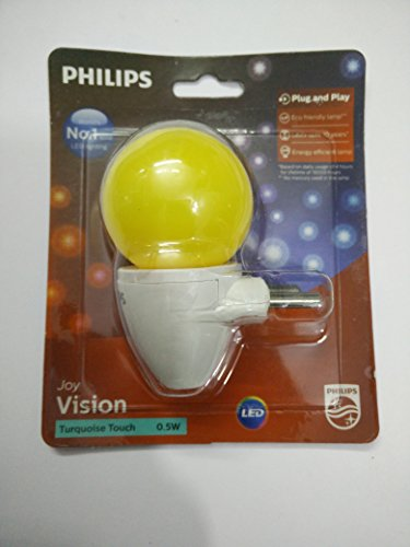 Philips Joy Vision Turquoise Touch 0.5 Watt LED Bulb (Yellow)
