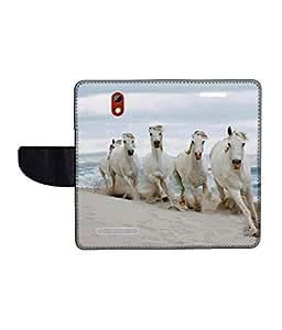 KolorEdge Printed Flip Cover For HTC Desire 500 Multicolor - (45KeMLogo09917HTC500)