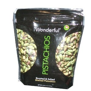 Wonderful Pistachios Roasted and Salted Shelled Pistachios 16 Ounce Bag
