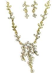 AUSTRIAN DIAMOND NECKLACE SET BY ZAVERI PEARLS - B00ROVJSFQ
