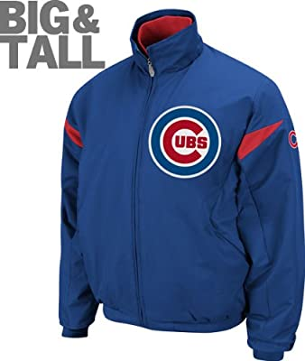 Mens Authentic MLB Team Chicago Cubs Big Tall Plus Majestic Sports Zip Up Jacket