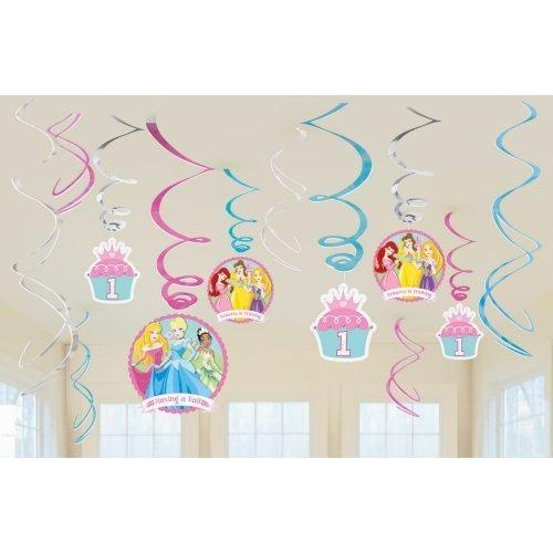 Disney Princess 1st Birthday Swirl Decorations (12pc) - 1