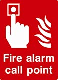 Fire eqipment - Fire Alarm call point (on 3mm rigid PVC / Size 30 cm x 20 cm)