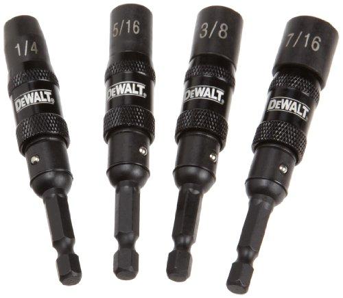 DEWALT DWPVTDRV 4-Piece IMpact Ready Magnetic Nut Driver Set