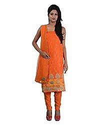 Mumtaz Sons Women's Cotton Unstitched Dress Material (MS111407C,Orange)