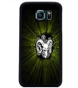 PrintDhaba Animal Image D-4739 Back Case Cover for SAMSUNG GALAXY S6 EDGE (Multi-Coloured)