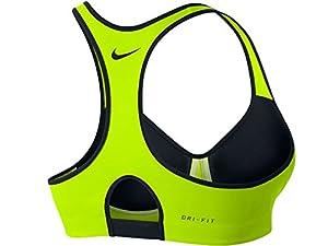 Women's Nike Pro Rival Sports Bra Volt/Black 620277-702