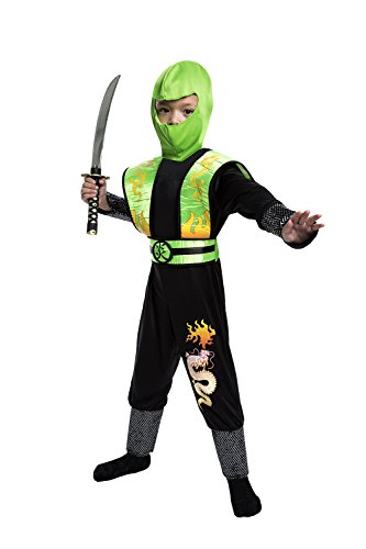 Toy Island Boys Child Green Dragon Ninja Costume, Size 4-6