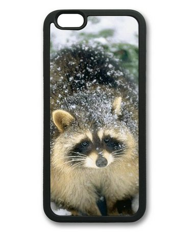 Baby Raccoon In The Snow Sakuraelieechyan Iphone 6 Black Sides Rubber Shell Tpu Case front-1060635