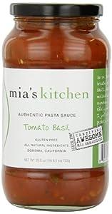 Mia's Kitchen Pasta Sauce, Tomato Basil, 4 Count
