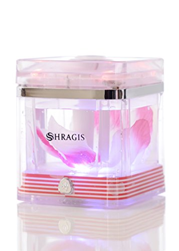Humidifier and Aroma Diffuser from Shragis - 220ml Ultrasonic Silent Cool Mist Humidifier for Use with or Without Scented Oils. for Baby's, Office or Home Gift. FREE BONUS - Special Smell Leaves