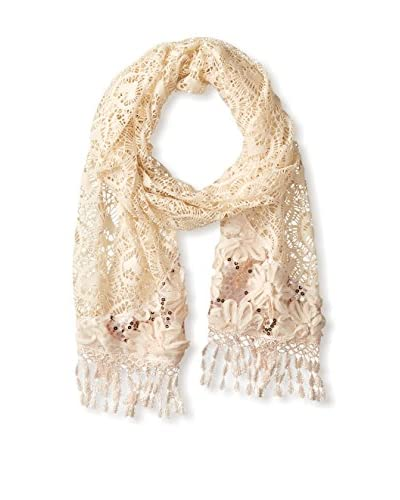 Pur Cashmere Women's Lace Scarf, Grey