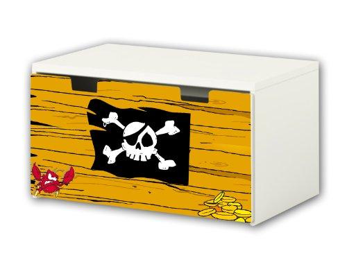 Pirates Sticker suitable for Children`s Storage Bench STUVA from IKEA (90 x 50 cm) - BT19
