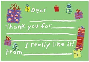Gift Fill In Kids Thank You Cards