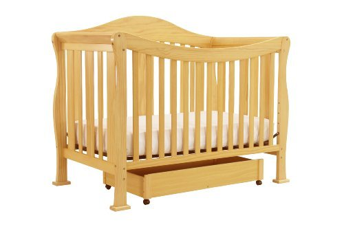 DaVinci Parker 4 in 1 Crib with Toddler Rail, Natural - 1