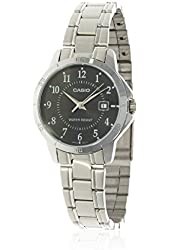 Casio Women's LTP-V004D-1B Stainless Steel Analog Watch