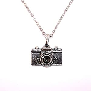 Sour Cherry Vintage Retro Camera Necklace (Long 60cm/24inch chain)