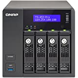 QNAP TS-453 Pro (8GB RAM version) 4-Bay Professional-grade NAS, Intel 2.0GHz Quad Core CPU with Media Transcoding (TS-453-PRO-8G-US)