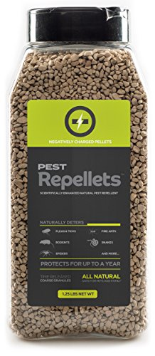 Non-Toxic Pest Repellent Pellets. Repels Rabbits, Rats, Snakes, Mice, Flea and Ticks, Spiders, Fire Ants and More. Safe for Children, Pets and Plants. (1.25 LBS)