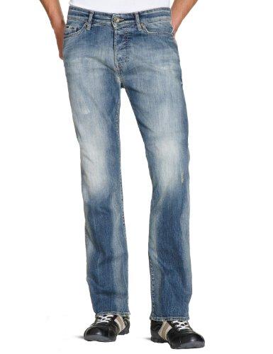 GAS 351225 34 030955 Clint W784 Loose Mens Jeans Medium Light Blue W32INxL34IN