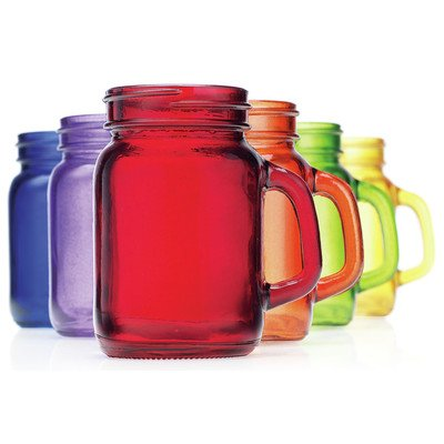 He Mason Jar Shooter Glass (Set of 6), Assorted Colors (Plastic Color Mason Jars compare prices)