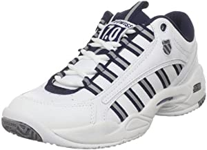 K-Swiss Men's Ultrascendor Tennis Shoe,White/Navy/Silver,10.5 M