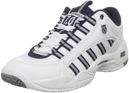 K-Swiss Men's Ultrascendor Tennis Shoe,White/Navy/Silver,9.5 M K-Swiss Tennis autotags B0000AS7HA