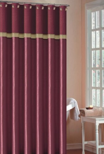 Duck River Textile Diva 70 Inch By 72 Shower Curtain Burgundy Gold