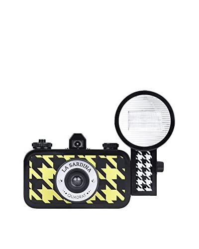 Lomography La Sardina Camera and Flash Quadrat, Black/Yellow