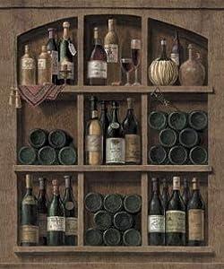 Wine cellar top peel stick wall mural for Wine cellar wall mural