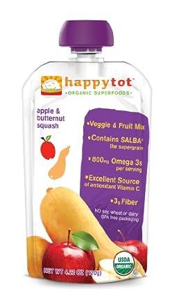(热销)Happy Tot Organic Baby Food 禧贝有机谷物冬南瓜苹果蔬果泥16包SS$16.48