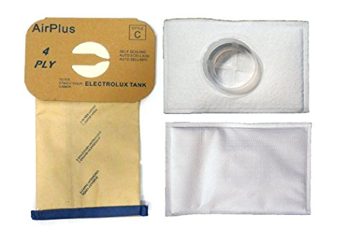 Electrolux Canister Tank Style C Vacuum Bags,(8 Bags & 2 After Filters) (Vacuum Bags Aerus compare prices)