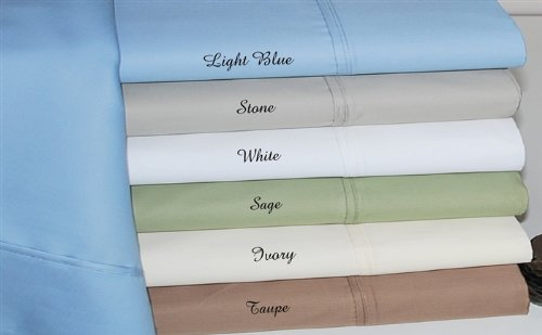 """Stone Solid - Plain Twin Ultra Soft & Exquisitely Smooth 600 Thread Count Wrinkle Free Bed Sheet Sets ( 18"""" Deep Pocketed Fitted Sheet, Flat Sheet With 1 Pillow Case ) - 100 % Egyptian Cotton Rich front-876245"""