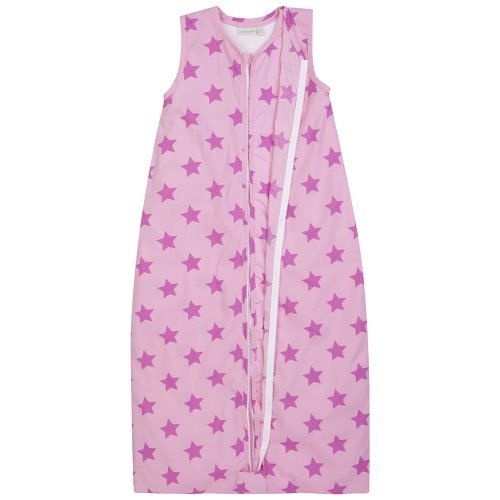JoJo Maman Bebe 3-in-1 Sleeping Bag, Pink Star, 0-6 Months