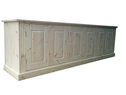 Wye Pine Long Low Sideboard - Finish: Unfinished - Stain: Waterbased