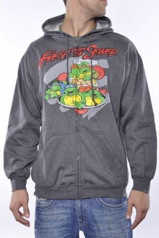Teenage Mutant Ninja Turtles Fresh From The Sewer Hoodie Sweatshirt Charcoal (Large) (Ninja Turtles Sweater Mens compare prices)