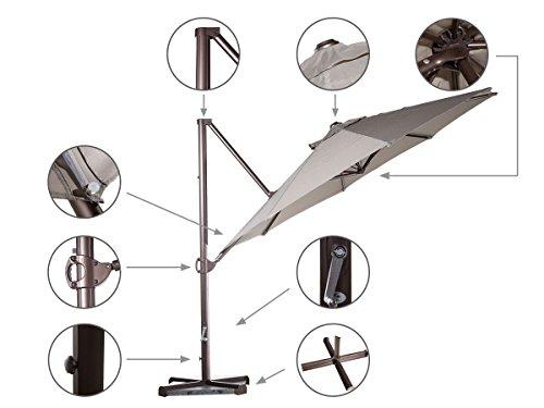 patio umbrella parts diagram patio 11' aluminum offset cantilever umbrella outdoor ...