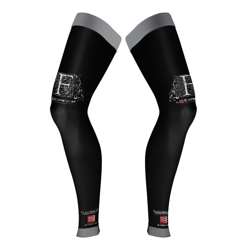 Compressport Full Leg - Pantalón unisex, color negro, talla T3