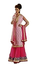 Bipson Women Georgette Dress Material (Lt Majestic 106 _Pink _17-18 Years)