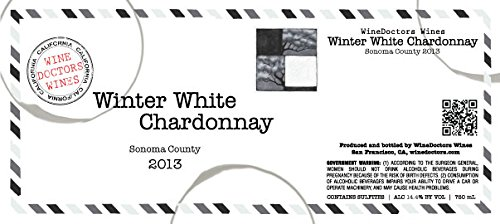 2013 Winedoctors' Winter White Sonoma County Chardonnay 750 Ml