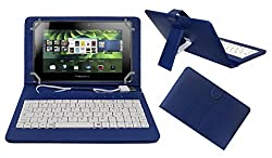 ACM PREMIUM USB KEYBOARD TABLET CASE HOLDER COVER FOR BLACKBERRY PLAYBOOK 4G With Free MICRO USB OTG - BLUE