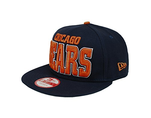 New Era Men's 9Fifty Hat Chicago Bears 2Tones Navy Blue Solid Snapback S/M Cap (Chicago Bears Bucket Hat compare prices)