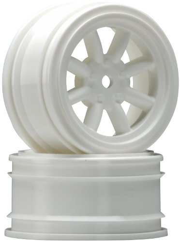 HPI Racing 3805 Vintage 0mm 8-Spoke Offset Wheel (2-Piece), 26mm, White